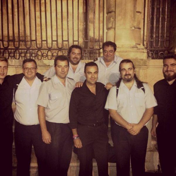 Con amigos de la Banda Municipal de Jaén