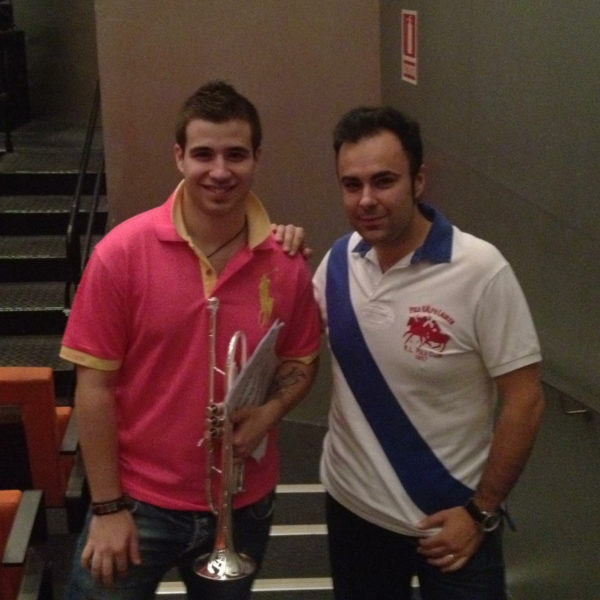 Con Rubén Simeó